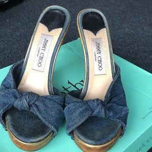 Jimi choo blue shoes size 61/2